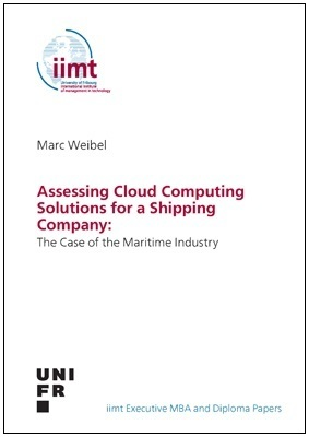 Marc Weibel: Assessing Cloud Computing Solutions for a Shipping Company